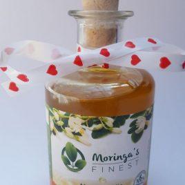 Moringa Olie 200ml in sierlijke glazen fles